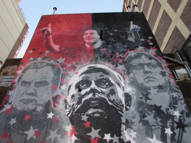 Lionel Messi Gerardo Martino Marcelo Bielsa Newells Street Art