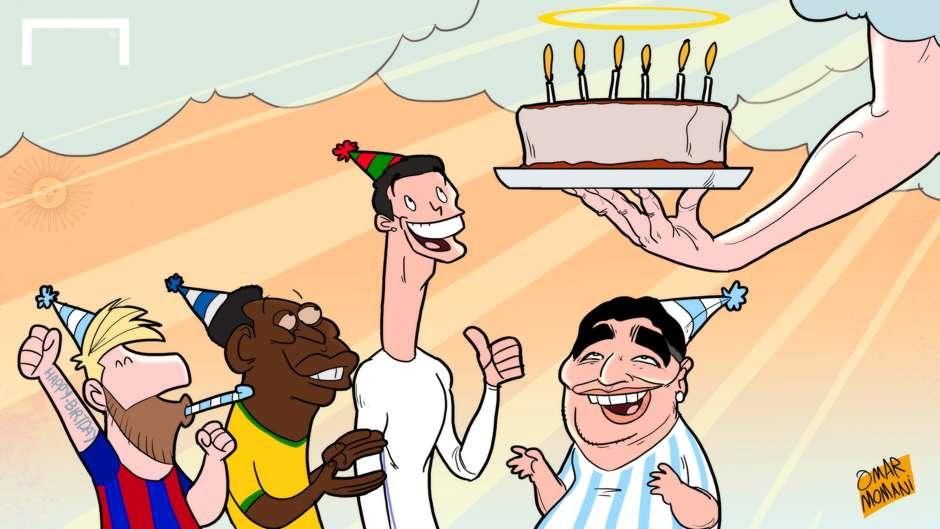 Maradona cartoon