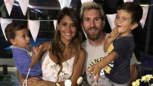 Lionel Messi - Antonella Roccuzzo - Familia Messi 11092016