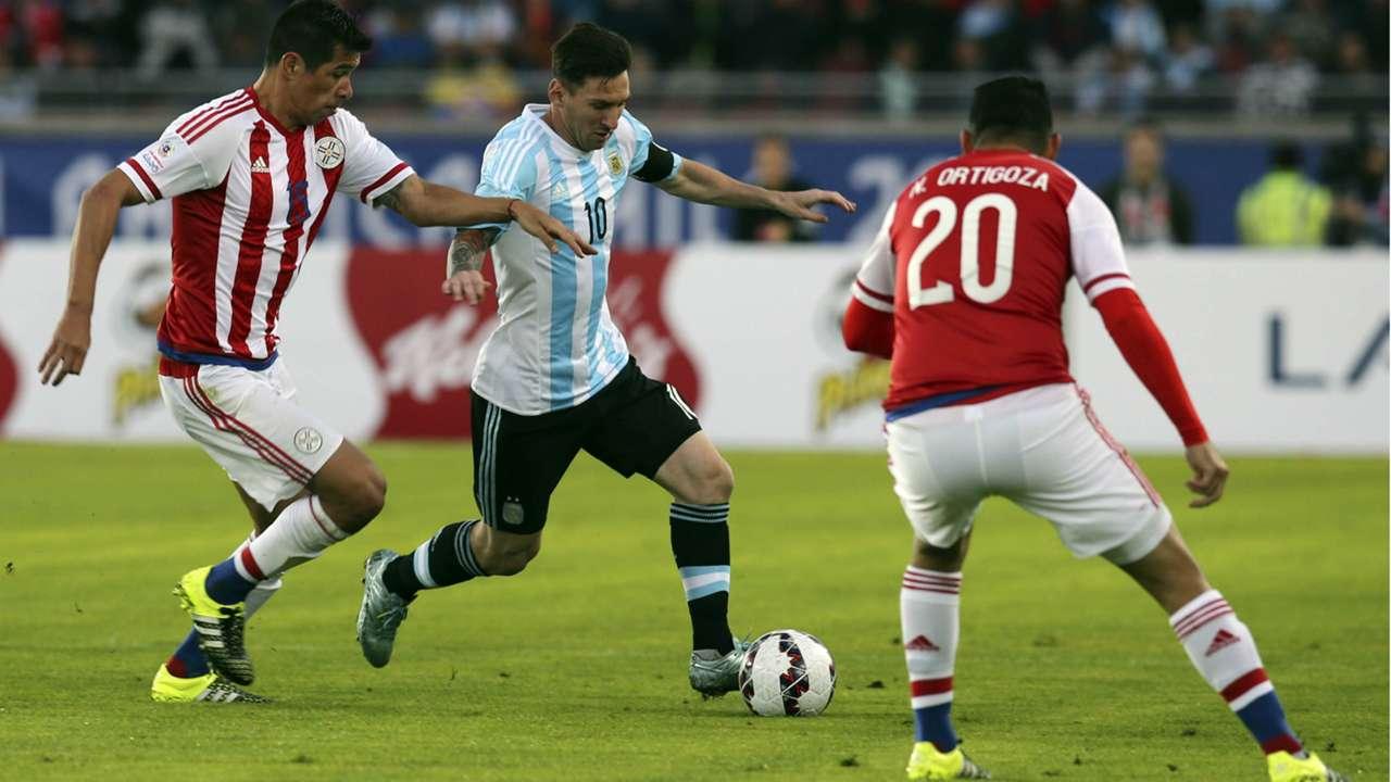 Lionel Messi Argentina Paraguay Copa America Chile 13062015