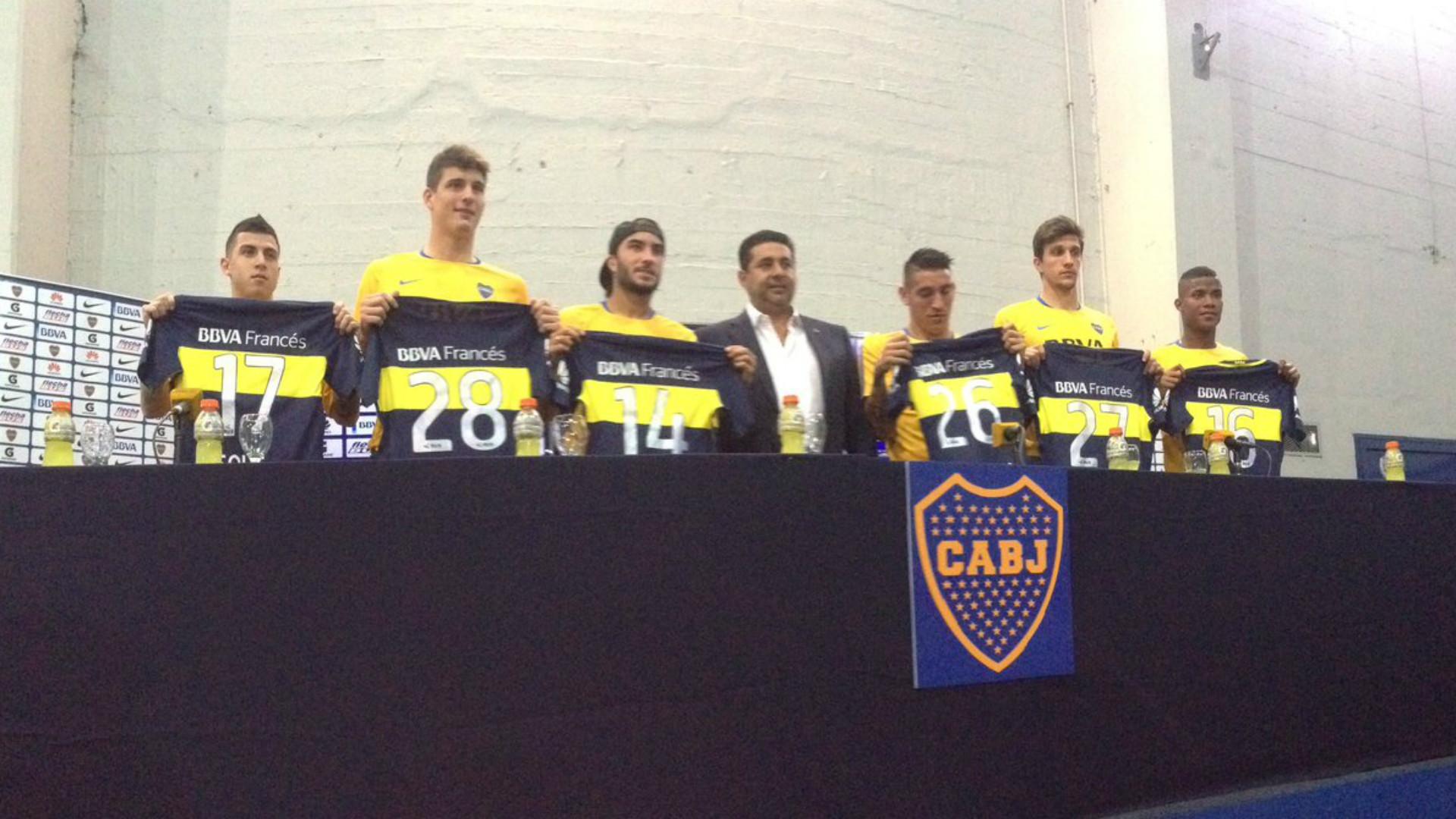 Solis Werner Perez Centurion Vergini Barrios Boca Juniors 26082016