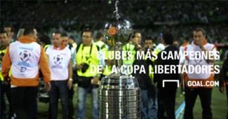 Los clubes más campeones de la Copa Libertadores