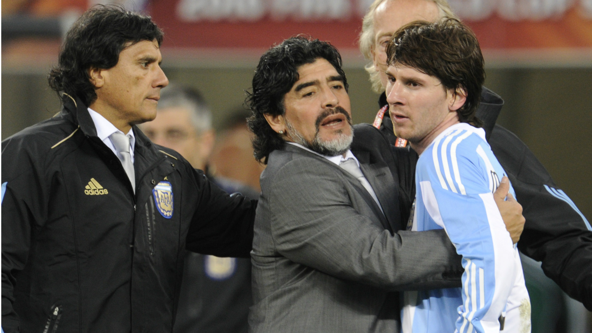 Diego Maradona Messi World Cup 2014