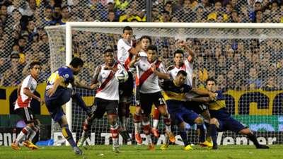 Juan Roman Riquelme Boca Juniors River Plate Torneo Final 2014