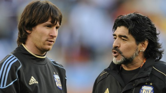 Diego Maradona Messi World Cup 2014