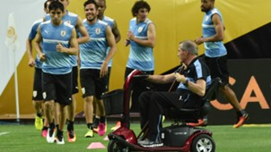 Oscar Tabarez Uruguay training session at University of Phoenix Stadium Glendale Arizona Copa America Centenario 04062016