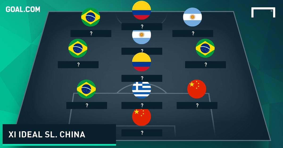 XI Ideal Superliga China Sin nombres