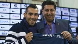 Carlos Tevez Daniel Angelici presentacion vuelta Boca Juniors 13072015