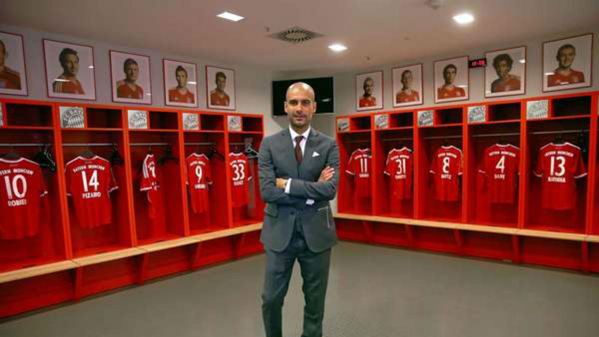 Guardiola, vestuario de Bayern Munich