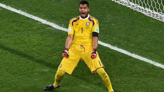 Sergio Romero Argentina Netherlands FIFA World Cup 2014
