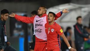 Alexis Sanchez Arturo Vidal Chile 14022017