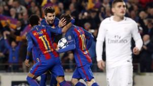 Lionel Messi Gerrard Pique Neymar Marco Verratti Barcelona PSG UEFA Champions League 08032017