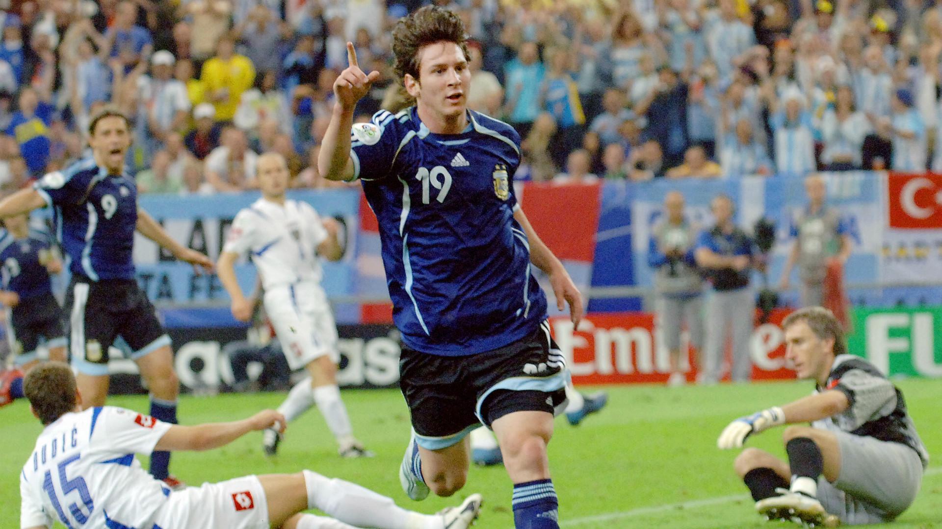Lionel Messi Argentina Serbia y Montenegro 16062006
