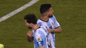 Messi Aguero Argentina Chile Final Copa America Centenario