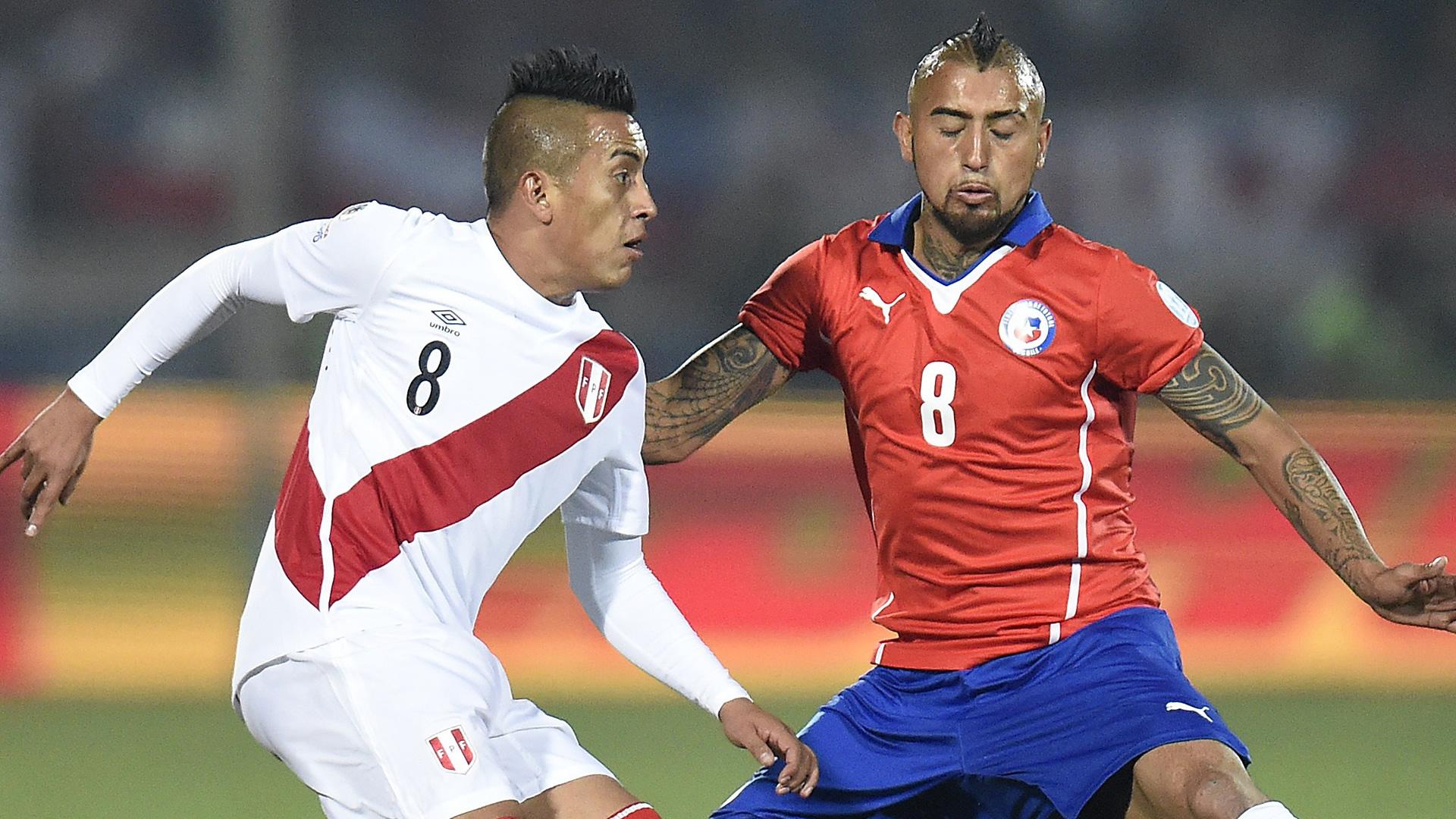 Christian Cueva Arturo Vidal Chile Peru Copa America 29062015