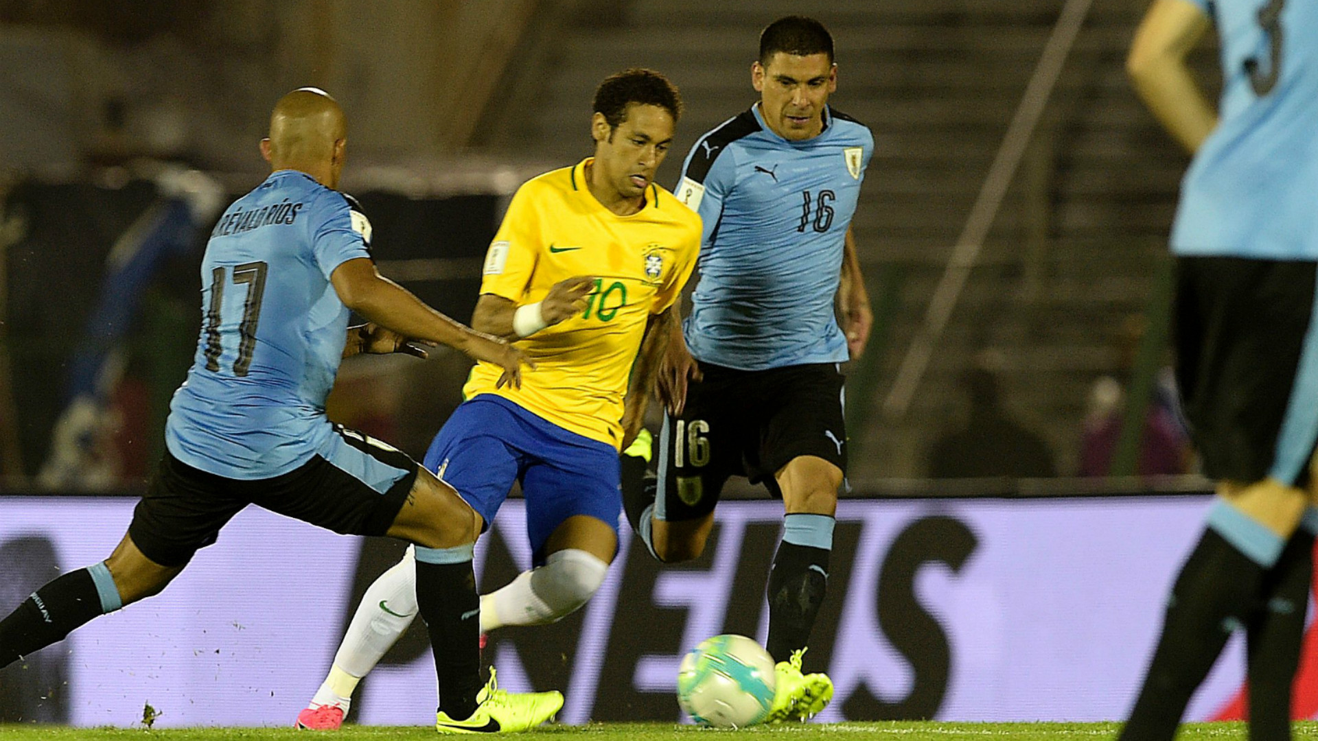 Neymar Uruguay Brazil South America Qualifiers 23032017