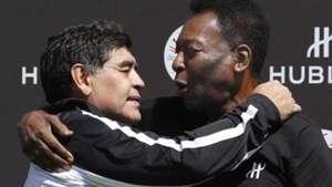 Maradona Pelé juntos evento abrazo 09062016
