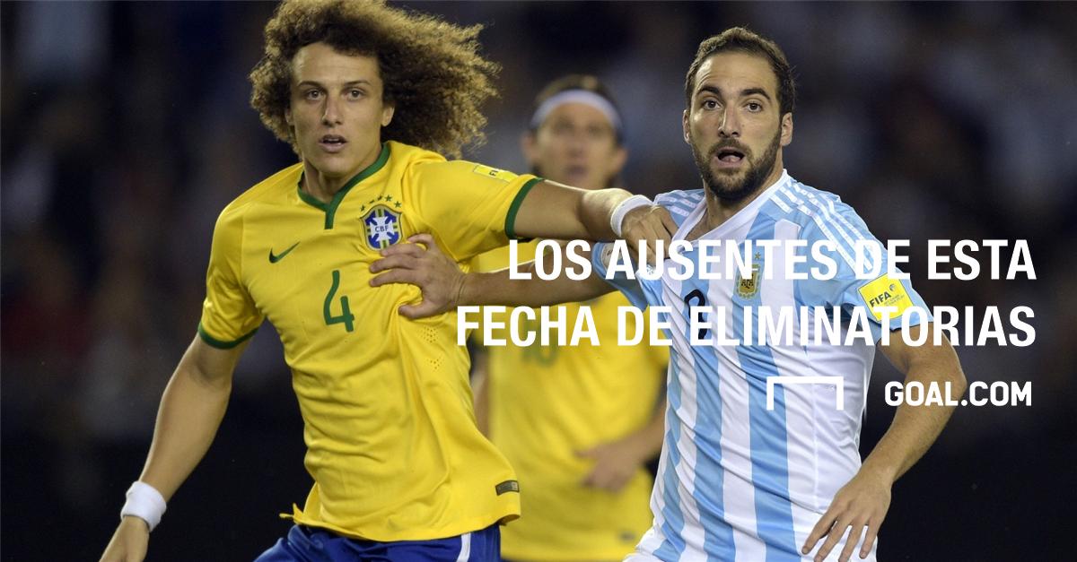 Galería Los ausentes de esta fecha de Eliminatorias sudamericana
