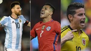 Eliminatorias Sudamericanas Messi Alexis James
