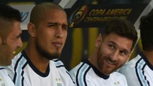 Mariano Andujar Jonatan Maidana Lionel Messi Argentina Chile Group D Copa America Centenario 06062016