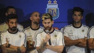 Conferencia de prensa Seleccion argentina - Lionel Messi - Argentina - Colombia en San Juan 16112016