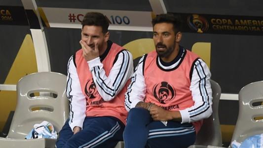 Ezequiel Lavezzi Lionel Messi Argentina Chile Copa America Centenario 19062016