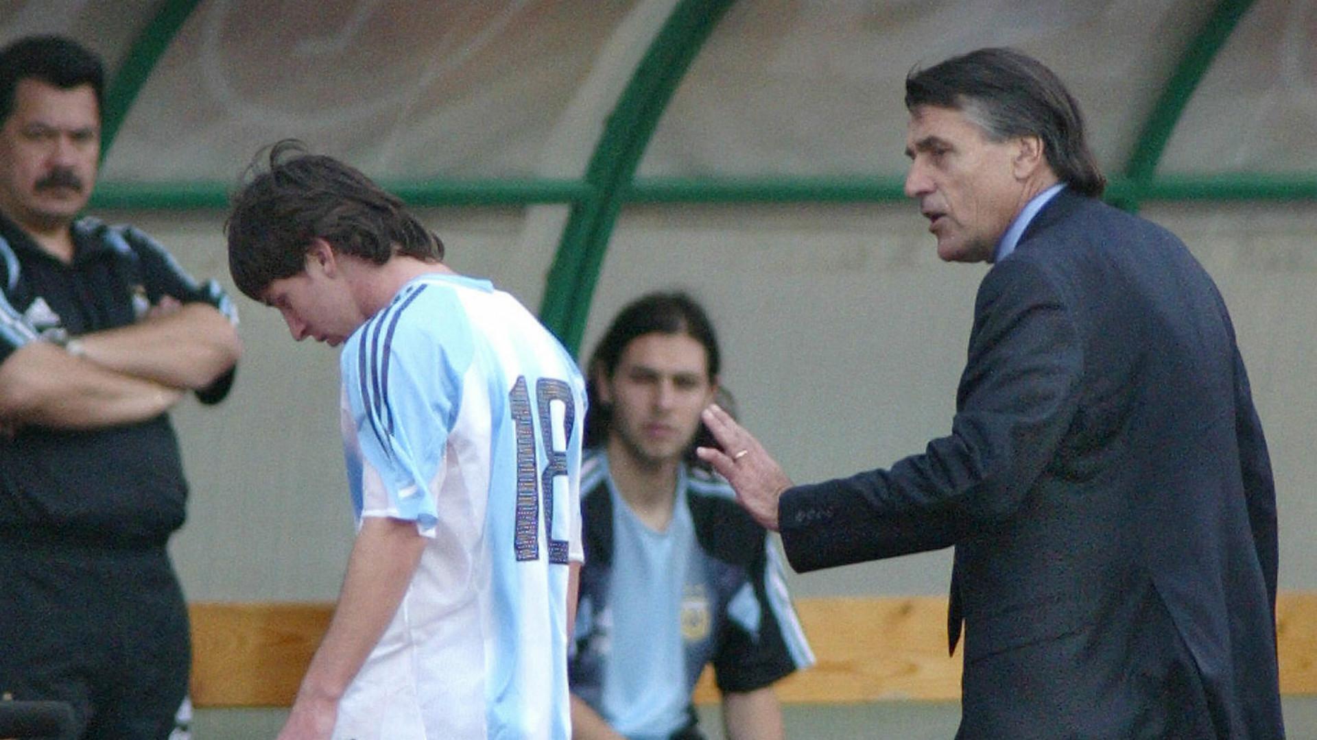 Lionel Messi Hugo Tocalli Argentina Hungria Budapest 17082005