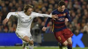 Luka Modric Lionel Messi Barcelona Real Madrid La Liga 02042016