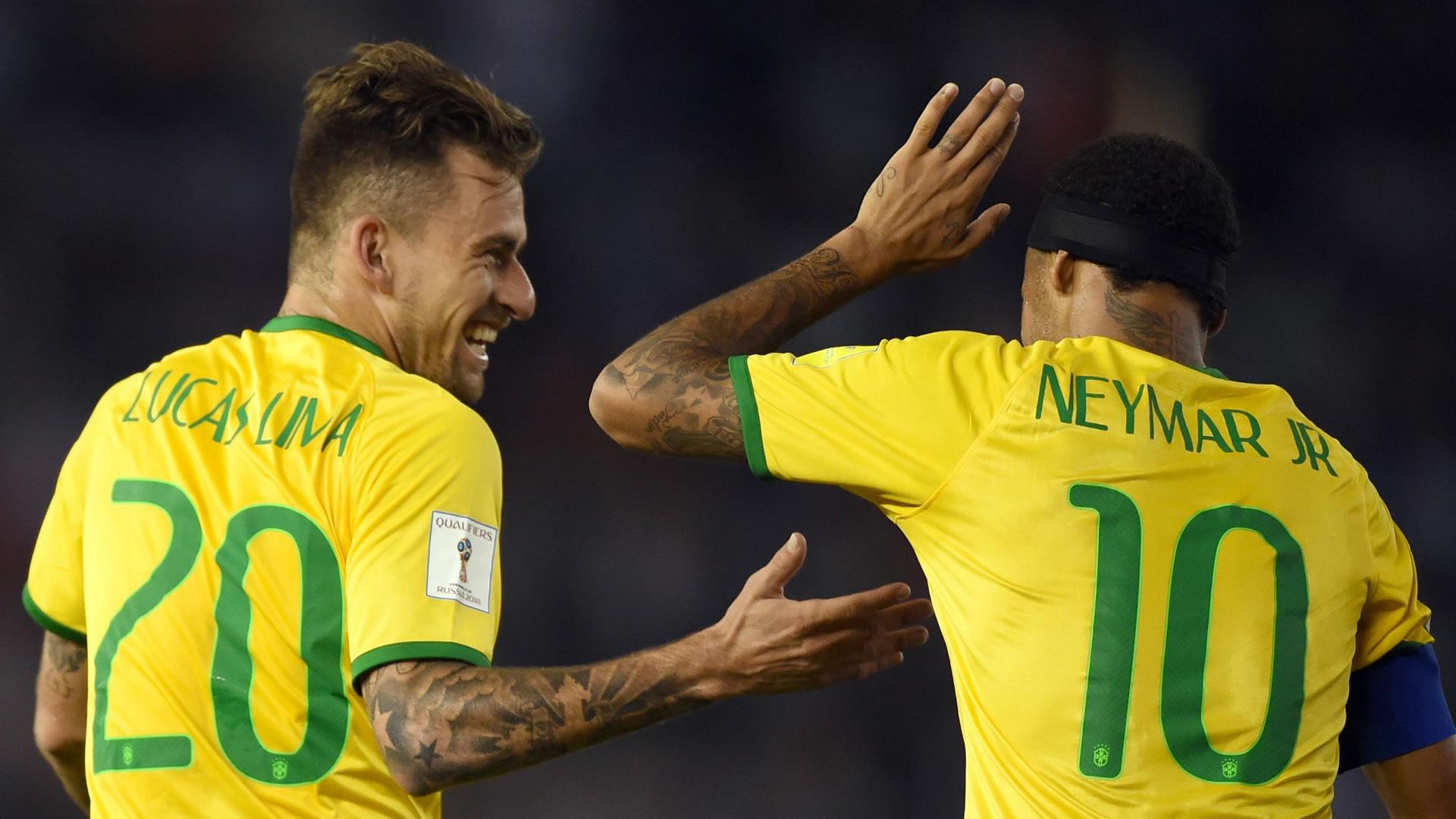 Neymar Lucas Lima Argentina Brazil Eliminatorias Sudamericanas 13112015