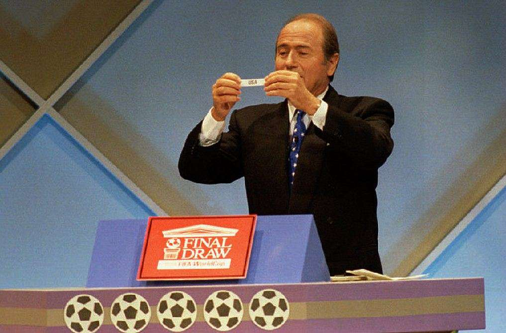 Joseph Blatter 1993 USA World Cup Draw