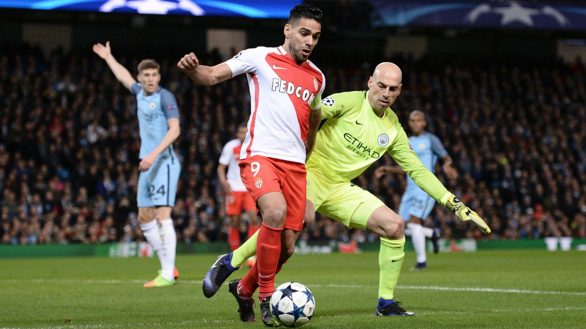 Radamel Falcao Monaco vs Manchester City 21022017