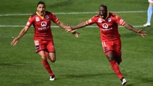 Bruce Djite Adelaide United v Melbourne City A-League 22042016