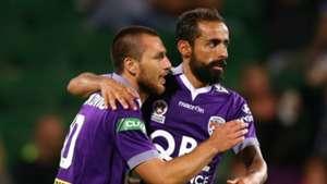 Nebojsa Marinkovic Diego Castro Perth Glory v Central Coast Mariners A-League 12122015