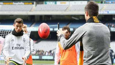 Cristiano Ronaldo Trent Cotchin Real Madrid AFL MCG training 170715