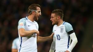 Harry Kane Jamie Vardy England v Netherlands Friendly 29032016