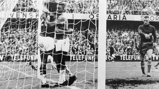 Pele Brazil v Sweden 1958 World Cup