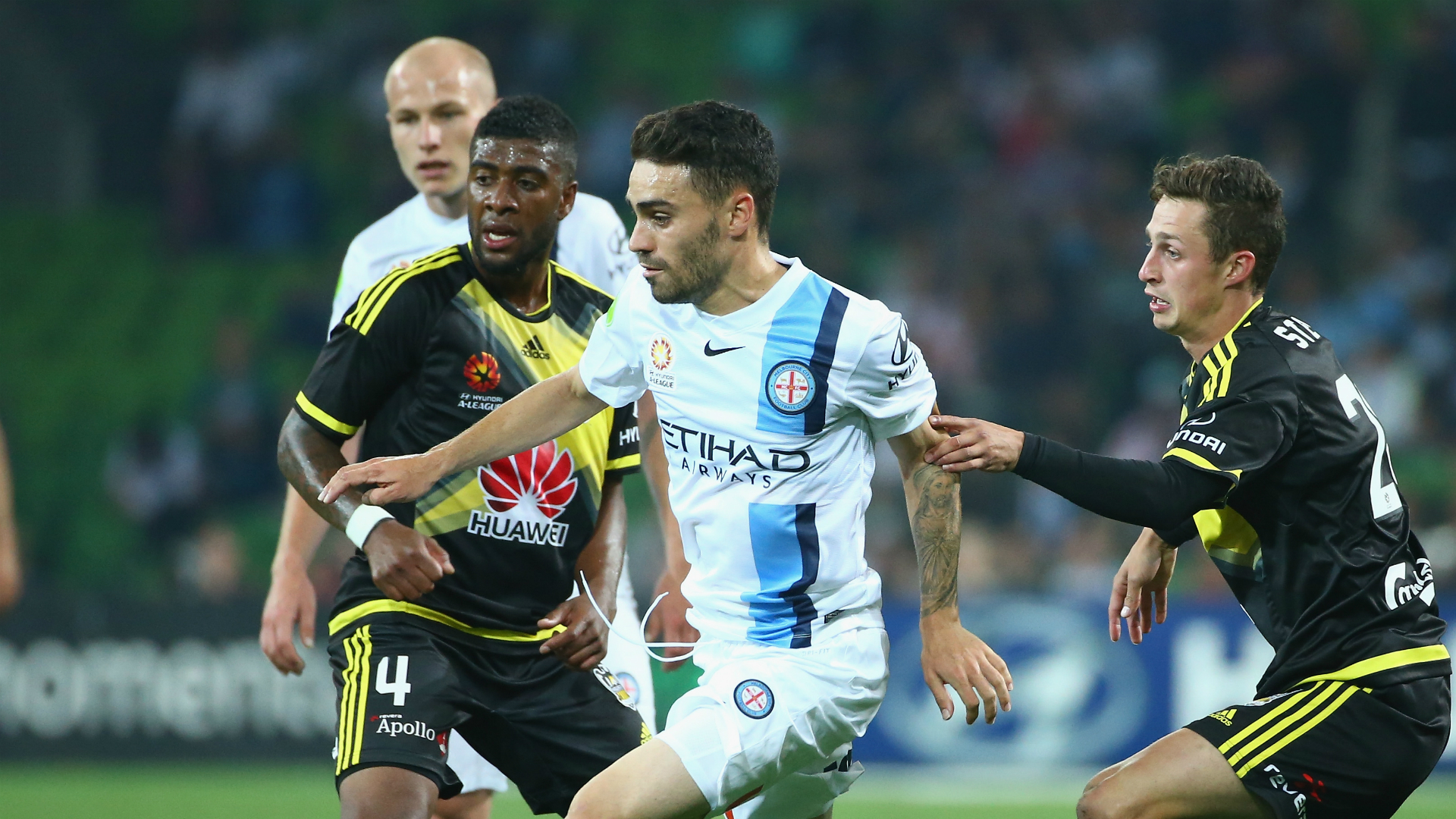 Anthony Caceres Melbourne City v Wellington Phoenix A-League 25012016