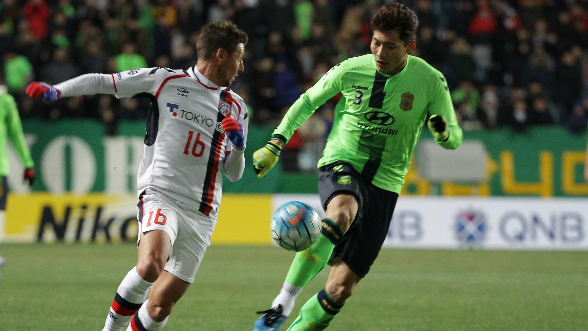 Nathan Burns Jeonbuk Motors v FC Tokyo AFC Champions League 23022016