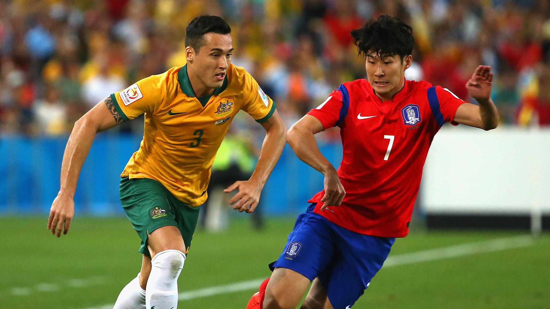 Jason Davidson Son Heung-min Australia v South Korea Asian Cup final 310115