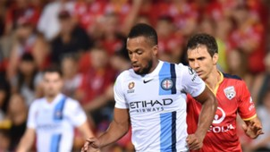 Harry Novillo Adelaide United v Melbourne City A-League 11032016