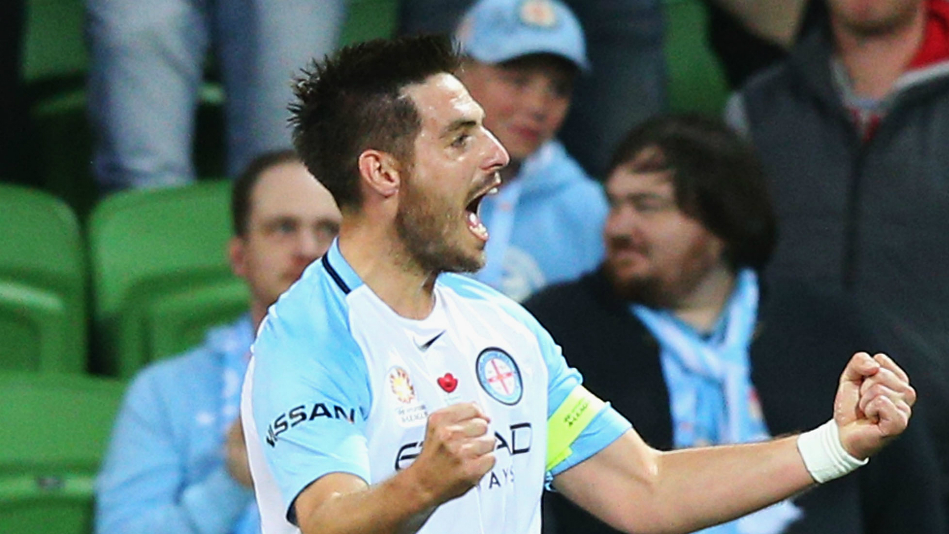 Bruno Fornaroli Melbourne City v Newcastle Jets A-League 10112016