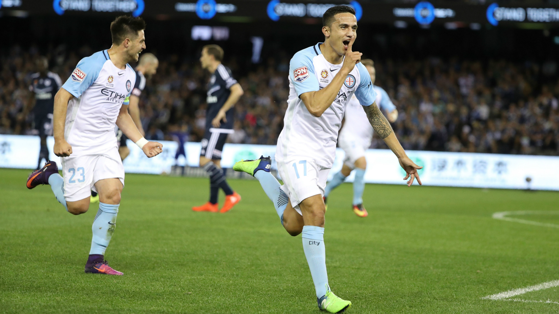 Tim Cahill Melbourne Victory v Melbourne City A-League 15102016