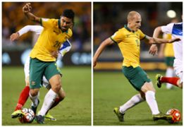 Massimo Luongo Aaron Mooy Australia v Kyrgyzstan World Cup Qualifier 12112015