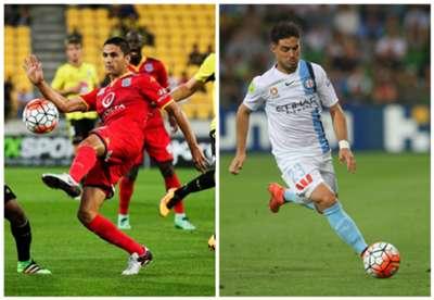 Marcelo Carrusca Adelaide United Bruno Fornaroli Melbourne City A-League