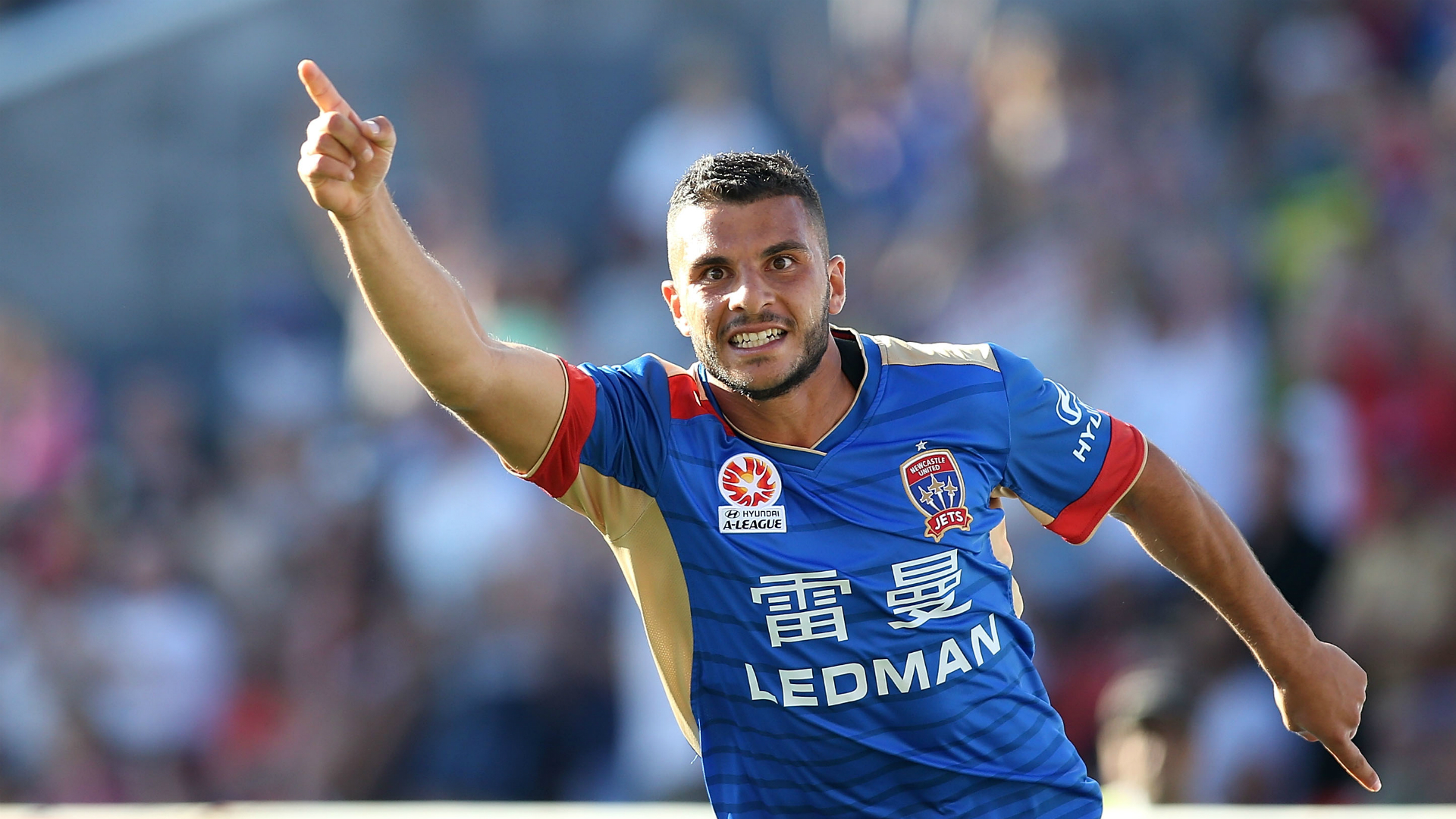 Andrew Nabbout Newcastle Jets v Brisbane Roar A-League 16102016