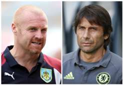 Sean Dyche Burnley Antonio Conte Chelsea Premier League