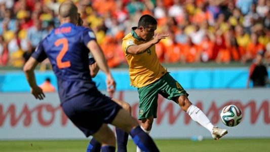 Tim Cahill Netherlands v Australia FIFA World Cup 2014