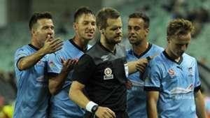 Chris Beath Ryan Grant Sydney FC v Wellington Phoenix A-League 26112015