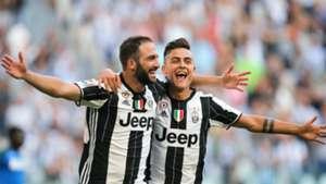 Gonzalo Higuain Paulo Dybala Juventus v Sassuolo Serie A 10092016