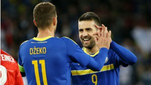 Switzerland - Bosnia-Herzegovina Vedad Ibisevic Edin Dzeko